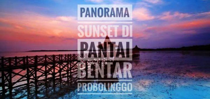 Panorama Sunset Di Pantai Bentar Probolinggo